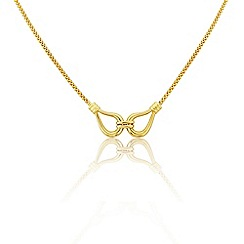 Love Story - 9ct Yellow Gold Ladies Designer Necklace