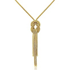 Love Story - 9ct Yellow Gold Ladies 'Knot' Design Necklace