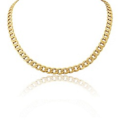 Love Story - 9ct Yellow Gold Gents Heavy Curb Chain