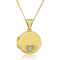 Love Story - 9ct Gold Stone-Set Locket