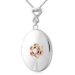 Love Story - Silver and 9ct rose gold locket