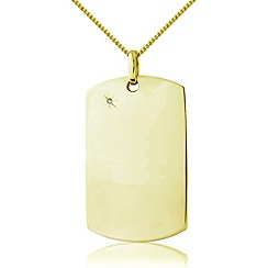 Precious Moments - Silver 9ct gold plated pendant