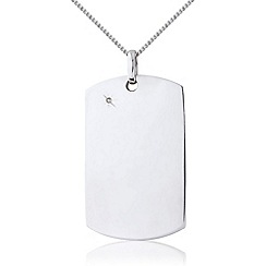 Precious Moments - Sterling silver gents diamond tag