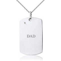 Precious Moments - Sterling silver gents diamond tag for 'dad'