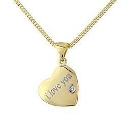 Love Story - Silver and 9ct gold plate pendant