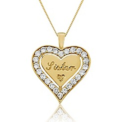 Precious Moments - Yellow Rhodium Plated On Silver 'Sister' Pendant