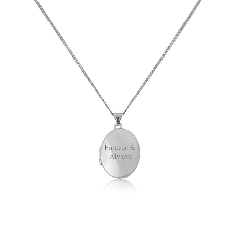 Precious Moments Silver 'Forever & always' locket with chain