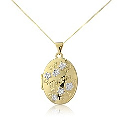 Precious Moments - 9ct gold, 'mum' locket