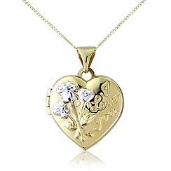 Love Story - 9ct gold, 'i love you' locket