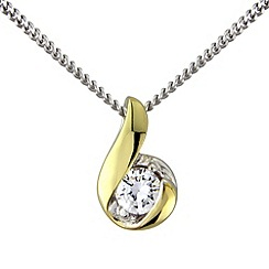 Love Story - Silver 9ct gold plated pendant