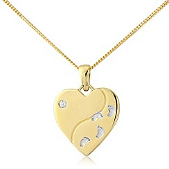 Precious Moments - Silver, 9ct gold plated pendant