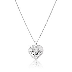 Love Story - 9ct white gold heart locket