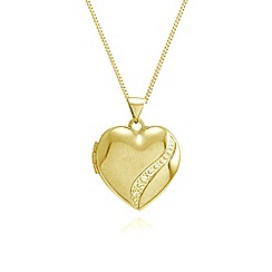 Love Story - 9ct gold heart diamond set locket