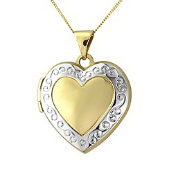 Love Story - 9ct gold ladies locket
