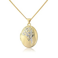 Love Story - Gold plated on silver locket