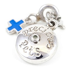 Pawprints - Silver diamond-set charm