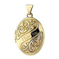 Precious Moments - 9ct gold 'I love you' locket