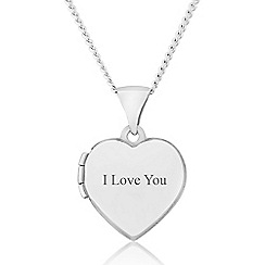 Precious Moments - Sterling Silver Heart 'I Love You' Locket