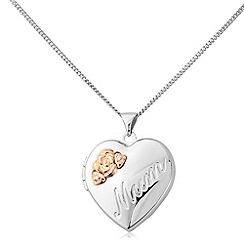 Precious Moments - Silver, diamond 'mum' locket