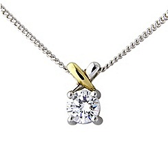 Love Story - Sterling silver & 9ct gold pendant