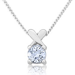 Precious Moments - Sterling silver spinel 'kiss' pendant