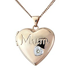 Precious Moments - Silver rose finished 'mum' locket
