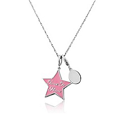 Pineapple - White bronze star & stone charm ladies charm pendant