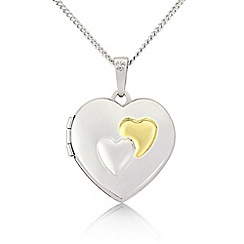 Love Story - Silver and 9ct gold locket