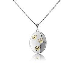 Pawprints - Silver locket pendant