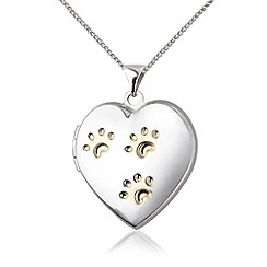 Pawprints - Silver locket