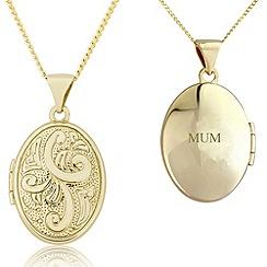 Precious Moments - 9ct gold ladies locket for 'mum'