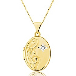 Love Story - 9ct Gold Diamond Set Locket