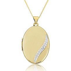 Love Story - 9ct Gold Ladies Diamond-Set Locket