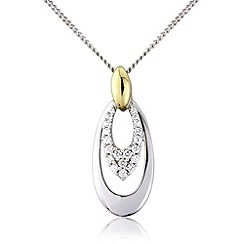 Love Story - Silver and 9ct gold pendant