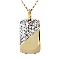 Precious Moments - Silver and 9ct gold plated stone-set pendant