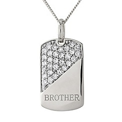 Precious Moments - Silver, 'brother' pendant