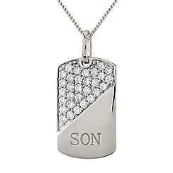 Precious Moments - Silver, 'son' pendant
