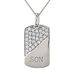 Precious Moments - Silver, 'son' pendant