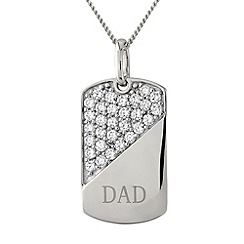 Precious Moments - Silver, 'dad' pendant