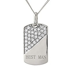 Precious Moments - Silver, 'best man' pendant