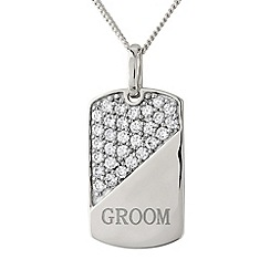 Precious Moments - Silver 'groom' pendant