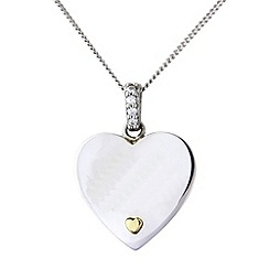Precious Moments - Silver and 9ct gold heart pendant
