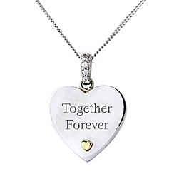 Precious Moments - Silver and 9ct gold 'together forever'