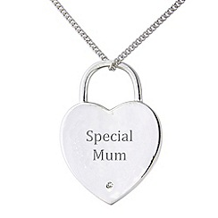 Precious Moments - Sterling silver heart shaped 'Special Mum' pendant