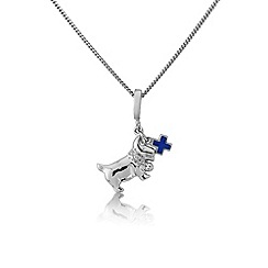 Pawprints - Silver 'scottie' dog pendant