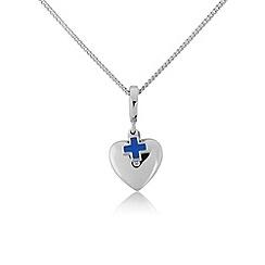 Pawprints - Silver heart charm