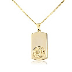 Love Story - Sterling silver & gold plated st christopher pendant