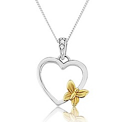 Love Story - Sterling Silver and 9ct Gold Ladies Pendant