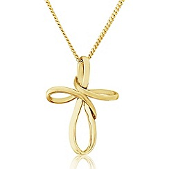 Precious Moments - 9ct Gold Contemporary Cross Pendant