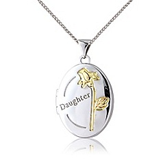 Precious Moments - Sterling silver & 9ct gold plated locket